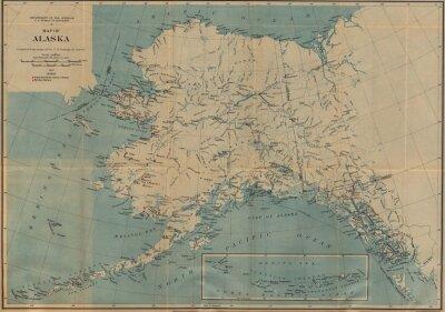 Fototapeta Vintage mapa