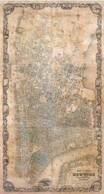 Fototapeta Vintage mapa New Yorku