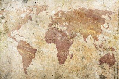 Fototapeta vintage mapa světa