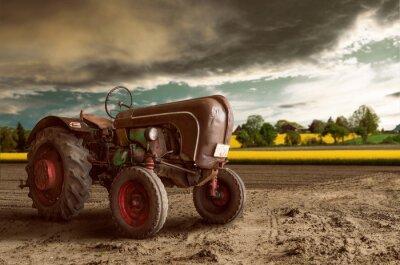 Fototapeta Vintage Tractor