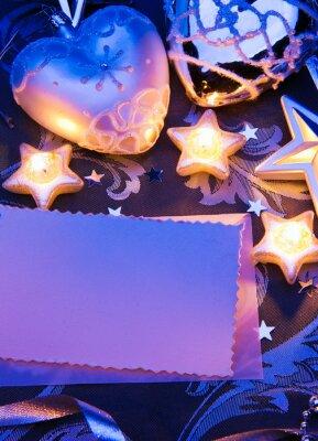 vintage vánoční designu blahopřání s papírem a Vánoce