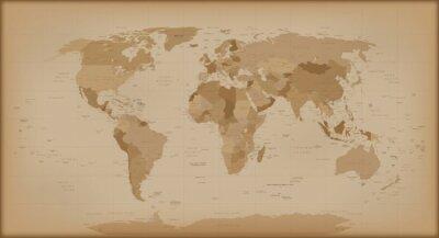 Fototapeta Vintage World Map