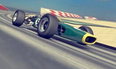 Fototapeta vintage závodník