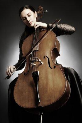 Fototapeta Violoncellista violoncellista hrající
