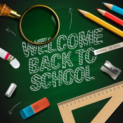 Fototapeta Vítejte zpátky do školy, vektorové ilustrace eps10.