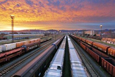 Fototapeta Vlak nákladní - Nákladní železniční průmysl