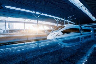 Fototapeta vlak překročení povolené rychlosti