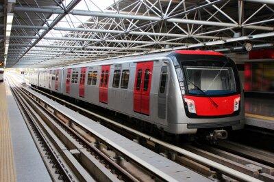 Fototapeta Vlak u stanice metra Metro
