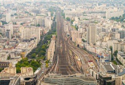 Fototapeta Vlakové nádraží Paříž, jak je patrné z vyvýšeného místa