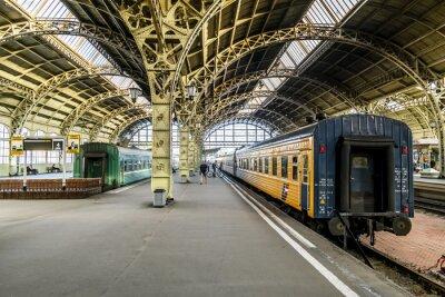 Fototapeta Vlakové nástupiště u Vitebsk železniční station.Saint-Petersburg.