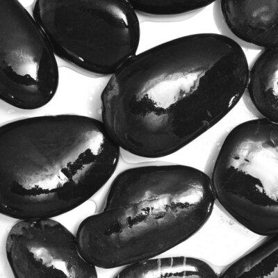 Fototapeta vlhké černé kameny