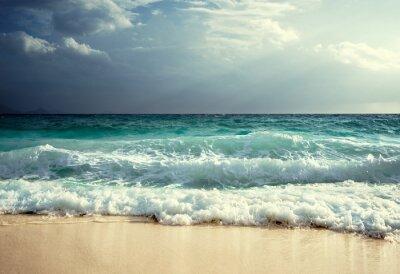 Fototapeta Vlny na pláži Seychely