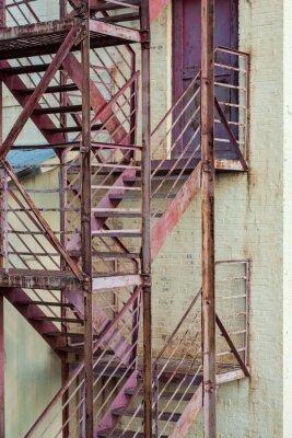 Fototapeta vnější požární únikové schodiště na výrobní budovy