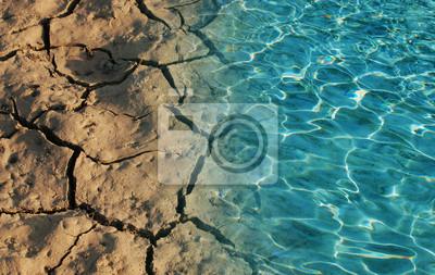 Fototapeta Voda a suché půdy v na obrázku