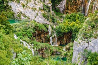 Fototapeta Vodopády v Národním parku Plitvická jezera, Chorvatsko