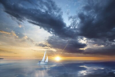 Fototapeta Voilier en Pleine mer