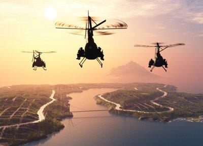 Fototapeta vojenský vrtulník