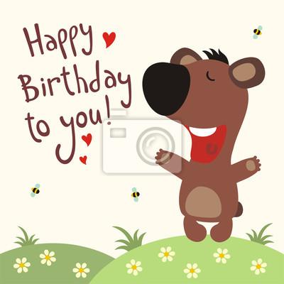 všechno nejlepší k narozeninám píseň Všechno nejlepší k narozeninám! funny medvěd zpívá píseň všechno  všechno nejlepší k narozeninám píseň