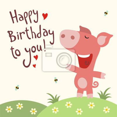 všechno nejlepší k narozeninám píseň Všechno nejlepší k narozeninám! funny prasátko zpívá píseň všechno  všechno nejlepší k narozeninám píseň