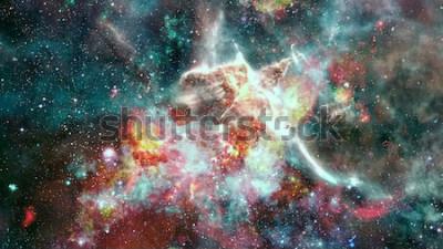 Fototapeta Výbuch supernovy. Jasná hvězdná mlhovina. Vzdálená galaxie. Novoroční ohňostroj. Abstraktní obraz. Prvky tohoto obrázku poskytnuté NASA.