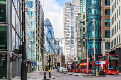 Fototapeta Výhled na město z Londýna kolem stanice Liverpool Street