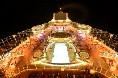 Fototapeta Výletní loď horní paluba v noci