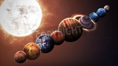 Fototapeta Výška kvalitní sluneční soustava planet. Prvky tohoto obrázku zařízený NASA