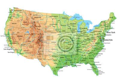 Mapa spojené státy americké Administrativní dělení