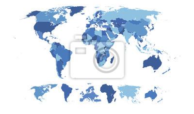 Fototapeta Vysoce detailní World Map