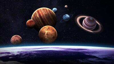 Fototapeta Vysoce kvalitní izolované sluneční soustavy planet. Prvky tohoto obrázku zařízený NASA