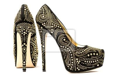 0f34759c505 Vysoké podpatky boty s vnitřní platformou kamínky fototapeta ...