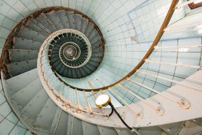 Fototapeta vysoký maják schody