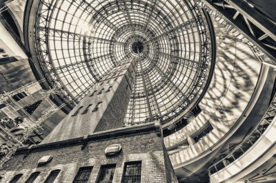 Fototapeta Vzhlédl vedle střílel věže na klenutou střechu Melbourne procenta