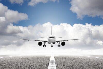 Fototapeta vzletová letadlo na letišti