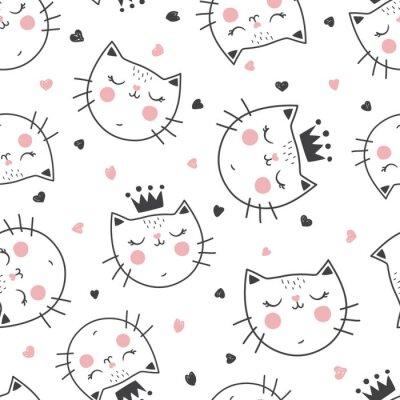 Fototapeta vzor kočky královny