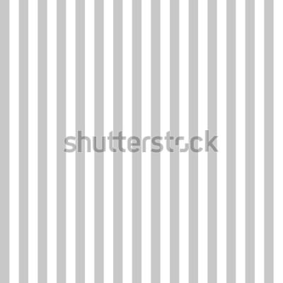 Fototapeta Vzor proužek bezešvé šedé a bílé barvy. Vertikální vzor proužek abstraktní pozadí vektor.