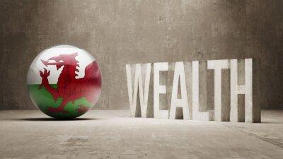Walesu. Bohatství Concept.