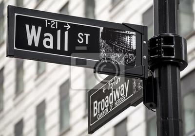 Fototapeta Wall Street podepsat v New Yorku, USA.