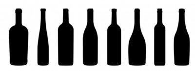 Fototapeta Weinflaschen Ikony