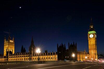 Fototapeta Westminster a Big Ben v noci