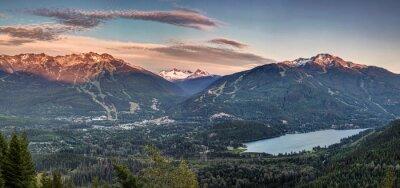 Fototapeta Whistler Blackcomb sunset panorama