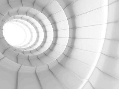 Fototapeta White Abstract Tunnel design pozadí