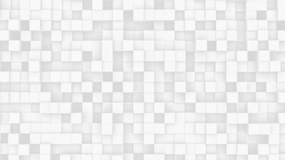 Fototapeta White geometric abstract background with array of small cubes. 3D illustration