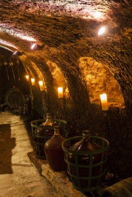 Fototapeta wine cellar in Velka Trna, Tokaj wine region, Slovakia