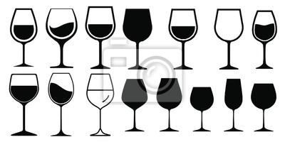 Fototapeta Wine Glass Icon Vector Simple Design symbols