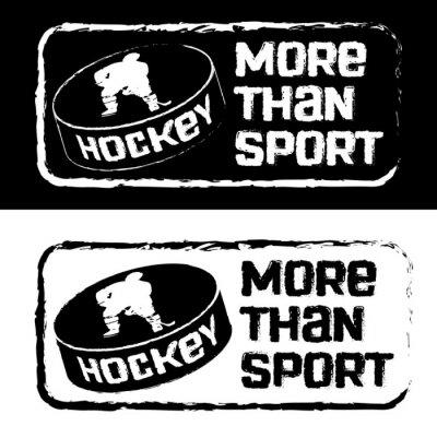 Fototapeta Хоккейный принт на футболку