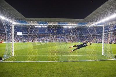 Fototapeta Fernando Pacheco z RM v akci na utkání španělský poháru mezi UE Cornella a Real Madrid, konečné skóre 1-4, 29. října 2014 v Cornella, Barcelona, Španělsko