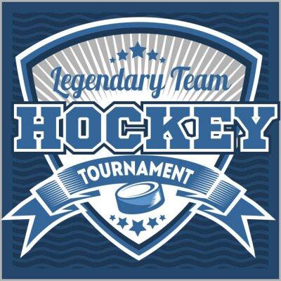 Fototapeta Hokejový tým logo šablony. Znak, logotyp šablona, t-shirt oděv konstrukce. Sport odznak pro turnaje nebo mistrovství