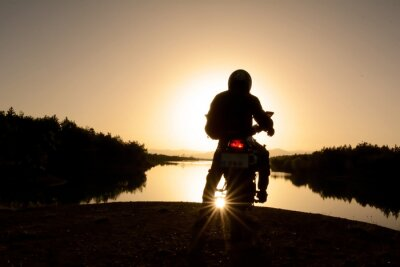 Fototapeta motorsiklet ile Doğa Turu