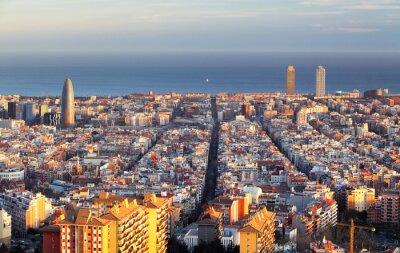 Fototapeta Panoráma města Barcelona, Španělsko